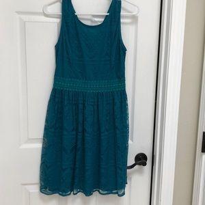 Francesca's collection turquoise lace dress